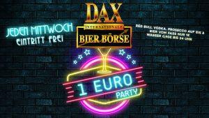 Jeden Mittwoch – 1 Euro Party – Eintritt Frei!